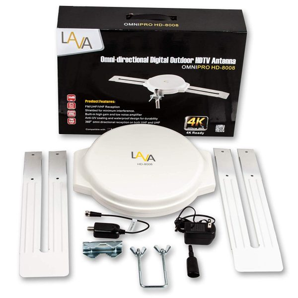 LAVA RVHD-2000 Omnipro RV /& Marine HDTV Antenna